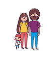 parents and little daughter family vector image