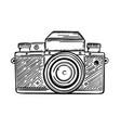 photocamera retro monochrome sketch vector image