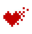 pixel red heart icon minimalism vector image vector image