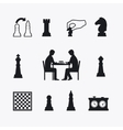 Playing chess vector image vector image