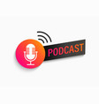 podcast symbol icon with studio microphone vector image