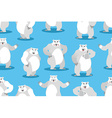 Polar Bear seamless pattern Set a wild animal Wild vector image