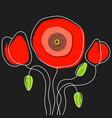poppy - poppy appeal modern paper design isolated vector image vector image