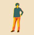 posing lady figure vector image vector image