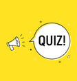 quiz alert loudspeaker pop icon answer vector image