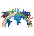 rainbow symbol support for healthcare workers vector image vector image