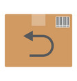 return shipping flat icon logistic and delivery vector image