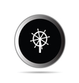 rudder button vector image vector image