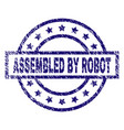 scratched textured assembled by robot stamp seal vector image