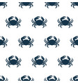 seamless pattern marine oceanic crab with claws vector image vector image