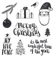 set hand drawn christmas vector image vector image