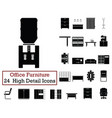 set of 24 office furniture icons vector image vector image