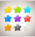Set of Colorful Stars GUI elements for mob vector image vector image