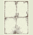 set of four frames in grunge style vector image vector image