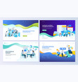 set of web page design templates vector image vector image