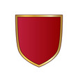 shield gold red icon shape emblem vector image vector image