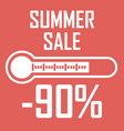 special offer summer discount in the form of a vector image vector image