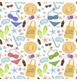 Summer vacation seamless pattern on white vector image vector image