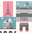 Symbols of Paris vector image