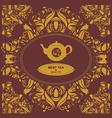 Teapot Vignette vector image vector image