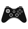 video game controller icon simple style vector image vector image