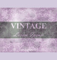 vintage baroque pattern grunge background vector image vector image