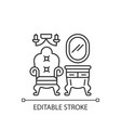 vintage furniture linear icon vector image vector image