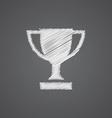 winner cup sketch logo doodle icon vector image