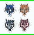 Wolf geometric set vector image