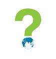 Word Eco globe vector image