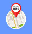 you are here street map gps simple icon road gps vector image vector image