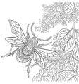 Zentangle stylized cartoon beetle insect vector image vector image