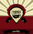 Retro coffee label vector image