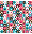 Seamless retro coffee and tea pattern vector image