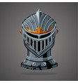 antique knight helmet cartoon vector image vector image