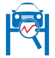 Automotive diagnostic repair icon vector image