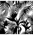 black white seamless tropical jungle vector image vector image