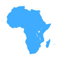 blue africa map vector image vector image