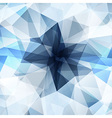 Blue crystal diamond texture abstract background vector image