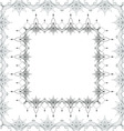 Border floral pattern Black and white vector image