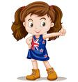 British girl having thumb up vector image vector image