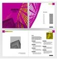 Brochure template vector image vector image