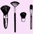 brush makeup vector image vector image
