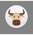 Bull icon Farm animal vector image