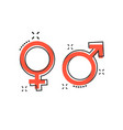 cartoon gender icon in comic style men and women vector image vector image