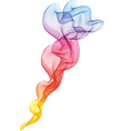 colourful smoke vector image vector image