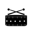 contour snare drum musical instrument to play vector image vector image