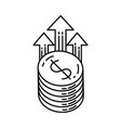 earning icon doodle hand drawn or outline icon vector image