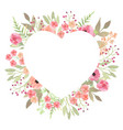 flowers heart beautiful paper art pink design vector image vector image