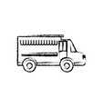 food truck icon vector image vector image